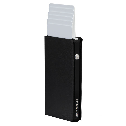 Craft Wallet Black Leather Black Aluminum Standing cards Released