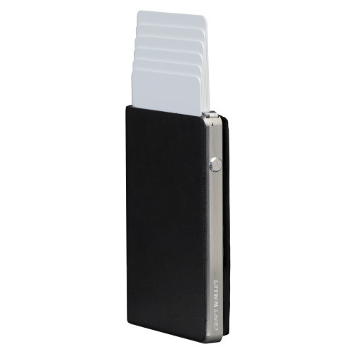 Craft Wallet Black Leather Silver Aluminum Standing cards Released