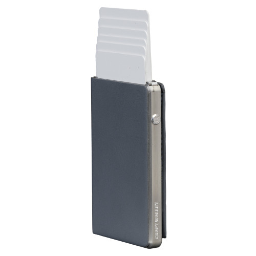 Craft Wallet Navy Leather Silver Aluminum Standing cards Released