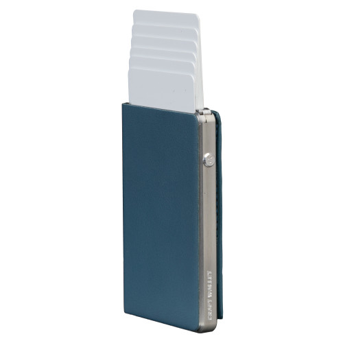 Craft Wallet Turquoise Leather Silver Aluminum Standing cards Released