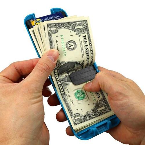 Flipside 4 Wallet open in hand cash exposed
