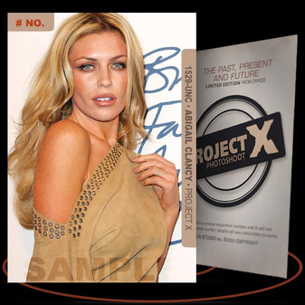 Abigail Clancy [ # 1529-UNC ] PROJECT X Numbered cards / Limited Edition