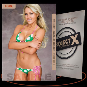 Natalie Gulbis [ # 2051-UNC ] PROJECT X Numbered cards / Limited Edition