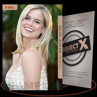 Alice Eve [ # 2056-UNC ] PROJECT X Numbered cards / Limited Edition