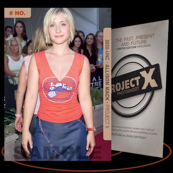 Allison Mack [ # 2058-UNC ] PROJECT X Numbered cards / Limited Edition