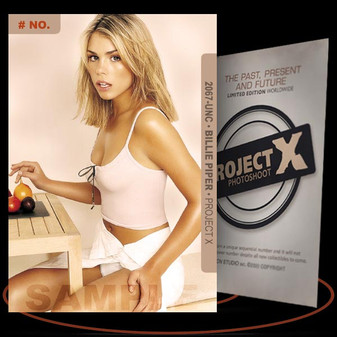 Billie Piper [ # 2067-UNC ] PROJECT X Numbered cards / Limited Edition