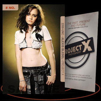 Alexis Bledel [ # 2208-UNC ] PROJECT X Numbered cards / Limited Edition