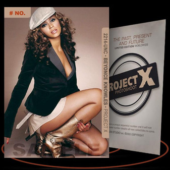 Beyonce Knowles [ # 2214-UNC ] PROJECT X Numbered cards / Limited Edition