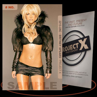 Britney Spears [ # 2215-UNC ] PROJECT X Numbered cards / Limited Edition