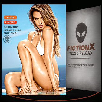 Jessica Alba [ # 3659-UNC ] FICTION X TOXIC RELOAD / GOLD Limited Edition cards