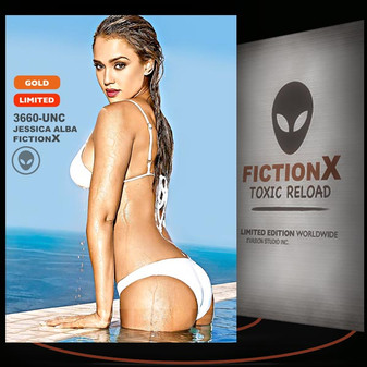 Jessica Alba [ # 3660-UNC ] FICTION X TOXIC RELOAD / GOLD Limited Edition cards