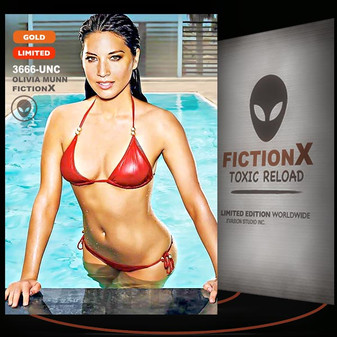 Olivia Munn [ # 3665-UNC ] FICTION X TOXIC RELOAD / GOLD Limited Edition cards