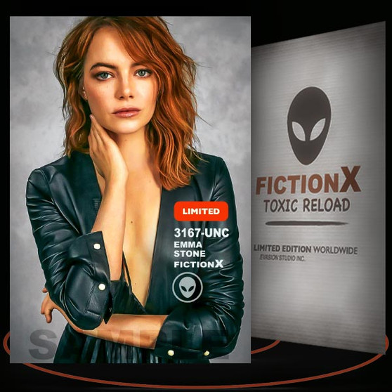 Emma Stone [ # 3167-UNC ] FICTION X TOXIC RELOAD / Limited Edition cards