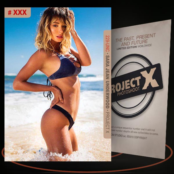 Sara Jean Underwood [ # 229-UNC ] PROJECT X Numbered cards / Limited Edition