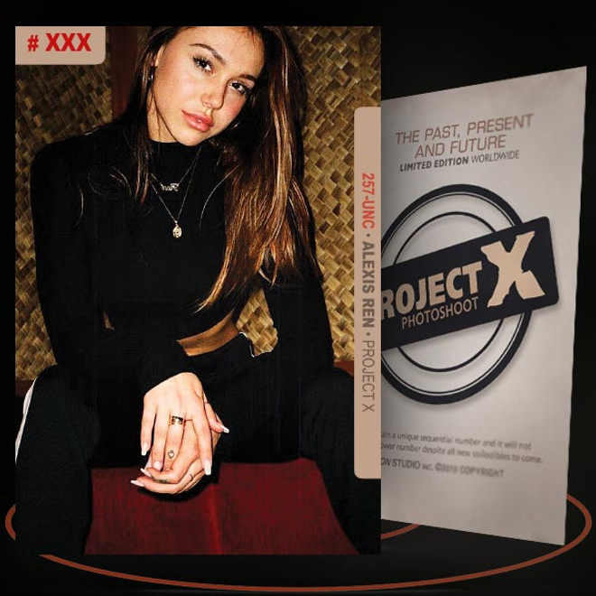 Alexis Ren [ # 257-UNC ] PROJECT X Numbered cards / Limited Edition