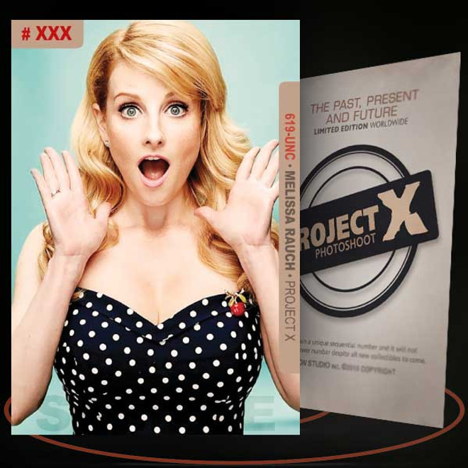 Melissa Rauch [ # 619-UNC ] PROJECT X Numbered cards / Limited Edition