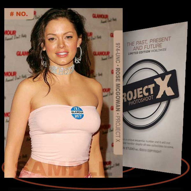 Rose McGowan [ # 974-UNC ] PROJECT X Numbered cards / Limited Edition