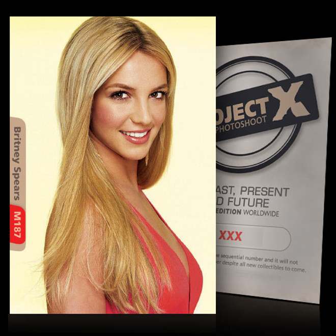 Britney Spears / Beautiful [ ID: M187 #XX ] PROJECT X LIMITED EDITION CARDS