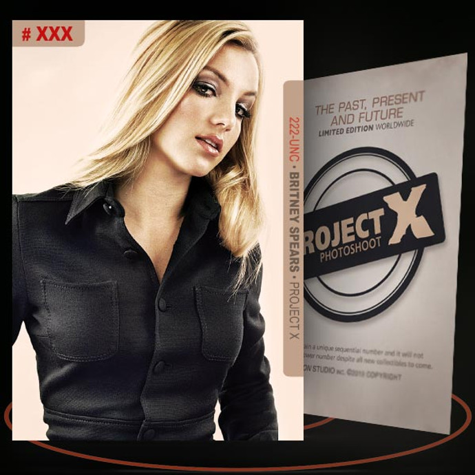 Britney Spears [ # 222-UNC ] PROJECT X Numbered cards / Limited Edition