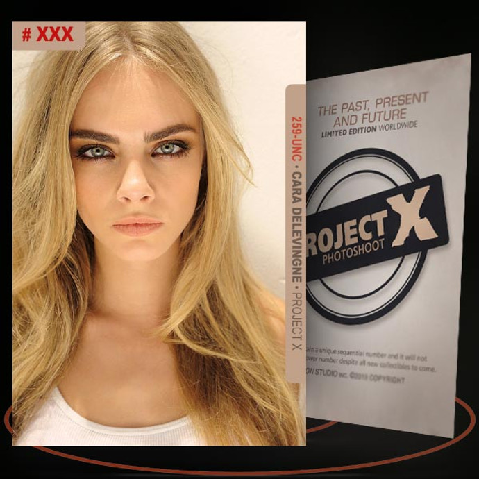 Cara Delevingne [ # 259-UNC ] PROJECT X Numbered cards / Limited Edition