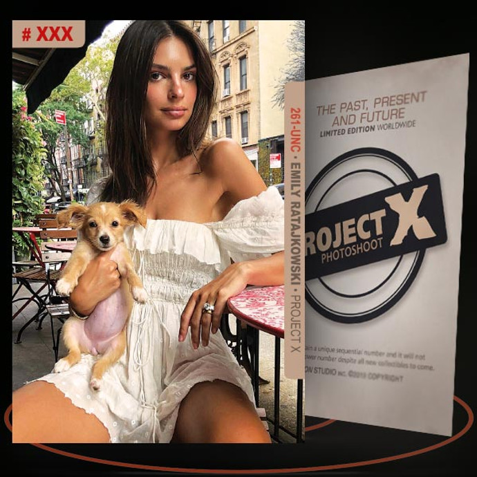 Emily Ratajkowski [ # 261-UNC ] PROJECT X Numbered cards / Limited Edition
