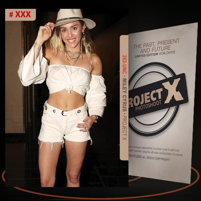 Miley Cyrus [ # 263-UNC ] PROJECT X Numbered cards / Limited Edition