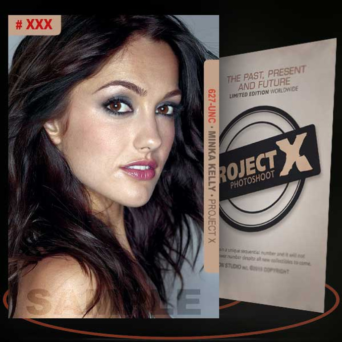 Minka Kelly [ # 627-UNC ] PROJECT X Numbered cards / Limited Edition