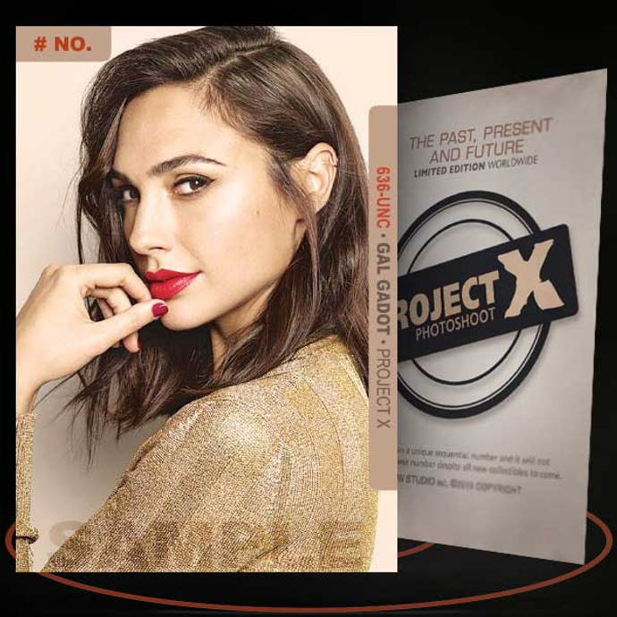 Gal Gadot [ # 636-UNC ] PROJECT X Numbered cards / Limited Edition