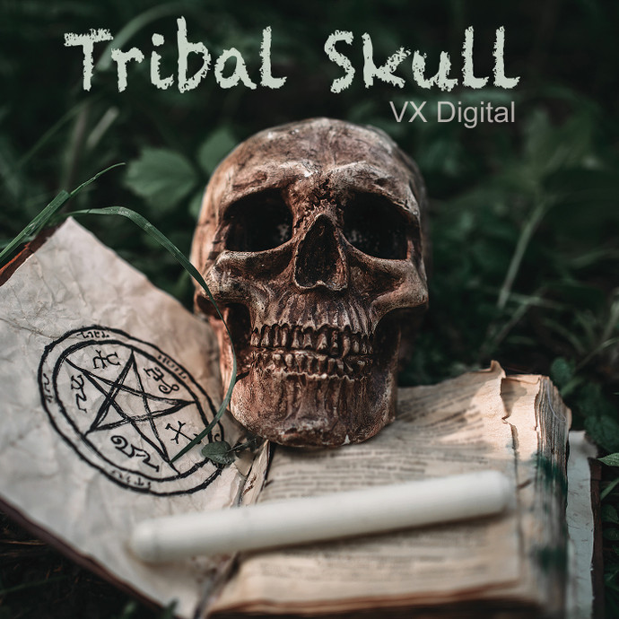 Tribal Skull /  High Quality 1280×720 Mp4 Video Clip by VX Digital Productions 2019