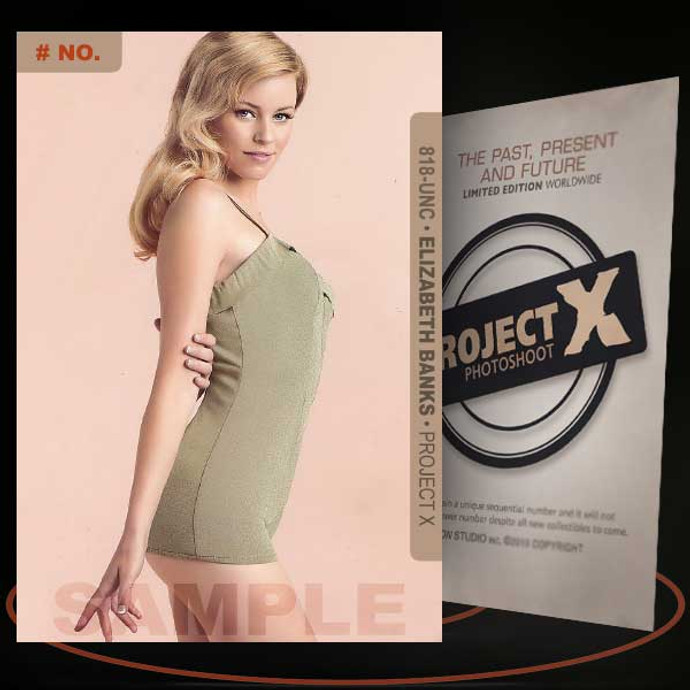 Elizabeth Banks [ # 818-UNC ] PROJECT X Numbered cards / Limited Edition