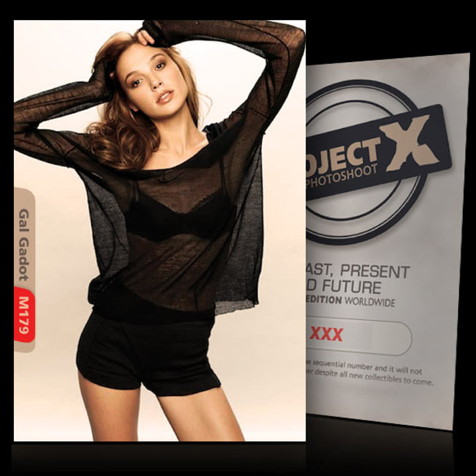 Gal Gadot / In Black [ ID: M179 #XX ] PROJECT X LIMITED EDITION CARDS