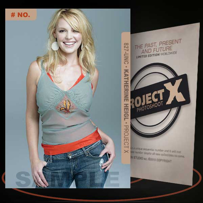 Katherine Heigl [ # 827-UNC ] PROJECT X Numbered cards / Limited Edition