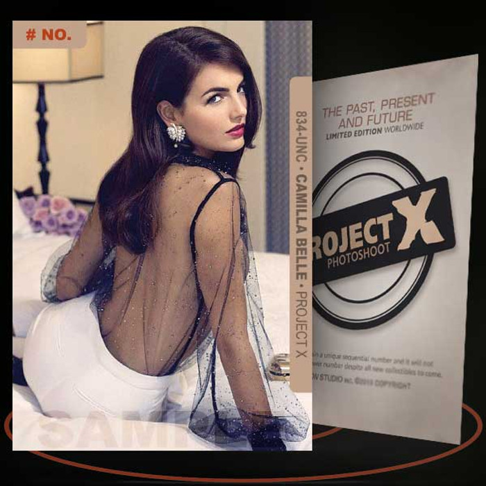 Camilla Belle [ # 834-UNC ] PROJECT X Numbered cards / Limited Edition