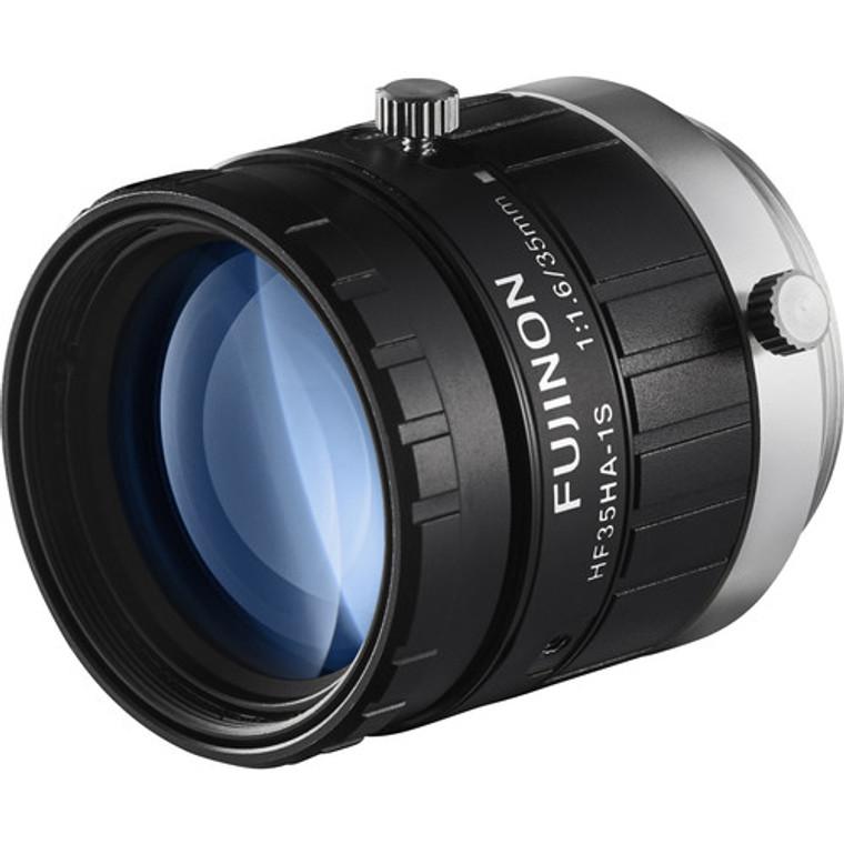 "Fujinon HF35HA-1S 2/3"" 35mm F1.6 Manual Iris C-Mount Lens, 1.5 Megapixel Rated, Anti-Vibration & Shock Feature"