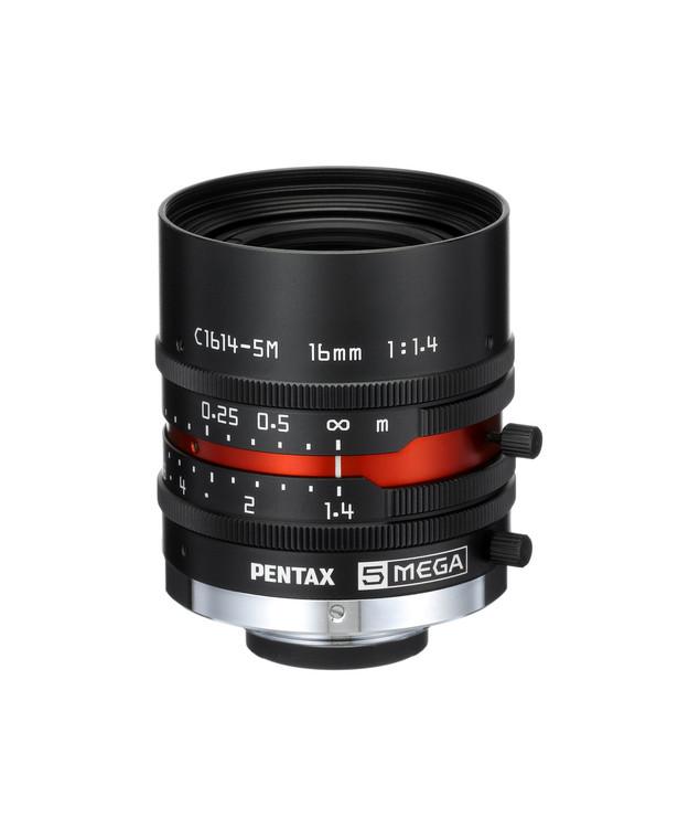 "Pentax/Ricoh FL-CC1614-5M 2/3"" 16mm F1.4 Manual Iris C-Mount Lens, 5-Megapixel"