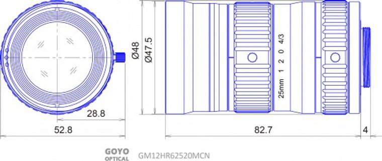 """Goyo Optical GM12HR62520MCN 4/3"""" 25mm"""