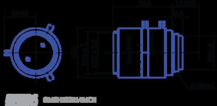 "Goyo Optical GM6HR32514MCN 6 Megapixel High Resolution 2/3"" Fixed-Focal Lens"