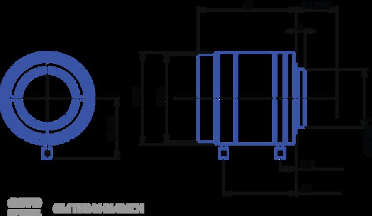 "Goyo Optical GMTHR41614MCN 1"" 16mm F1.4 Manual Iris C-Mount Lens, 3 Megapixel Rated"
