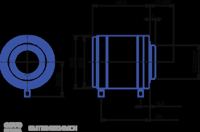 "Goyo Optical GMTHR43514MCN 1"" 35mm F1.4 Manual Iris C-Mount Lens, 3 Megapixel Rated"