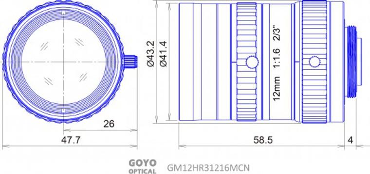 Goyo Optical GM12HR31216MCN