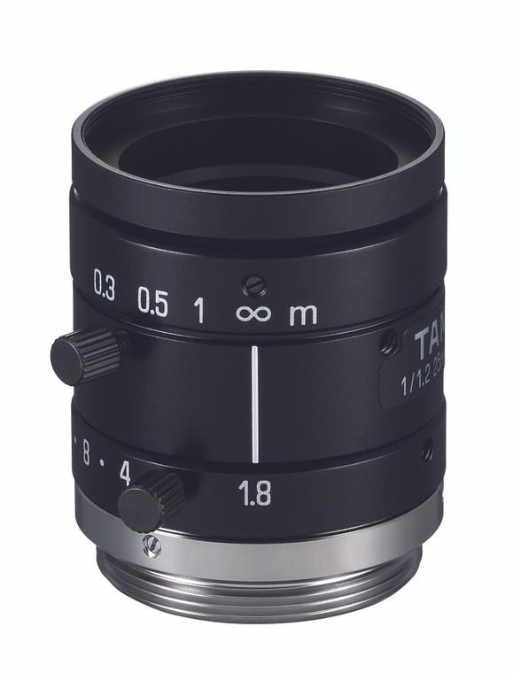 """Tamron M112FM251/1.2"""" 25mm F1.8 Manual Iris C-Mount, 5 Megapixel Rated"""