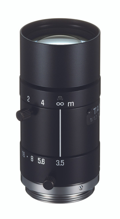 "Tamron M112FM75 1/1.2"" 75mm F3.5 Manual Iris C-Mount Lens, Compact Size, 5 Megapixel Rated"