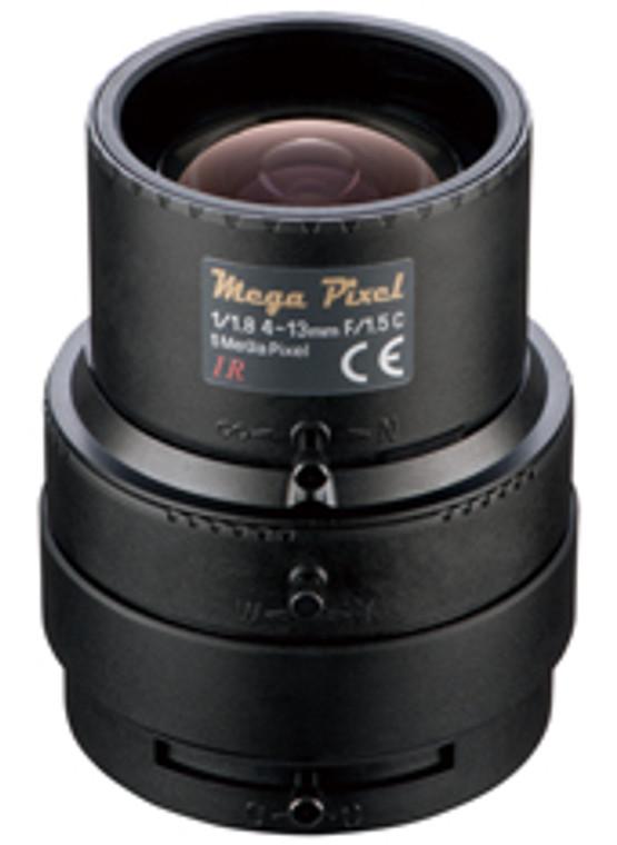 """Tamron M118VM413IRCS 1/1.8"""" 4-13mm F1.5 Manual Iris Vari-Focal CS-Mount Lens, IR Type (Day/Night). 5 Megapixel Rated"""
