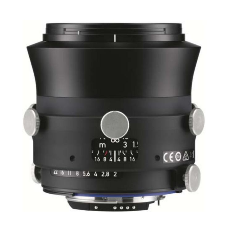 Zeiss Interlock 2/35 ZF.2 35mm F2.8 Manual Focus & Iris F-Mount Lens, 43.3mm Image Circle, 42 Megapixel Rated