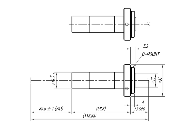 "VS Technology VS-TC1.5-40 1/2"" Telecentric C-Mount Lens, 1.5X, WD=40mm, Megapixel Rated"