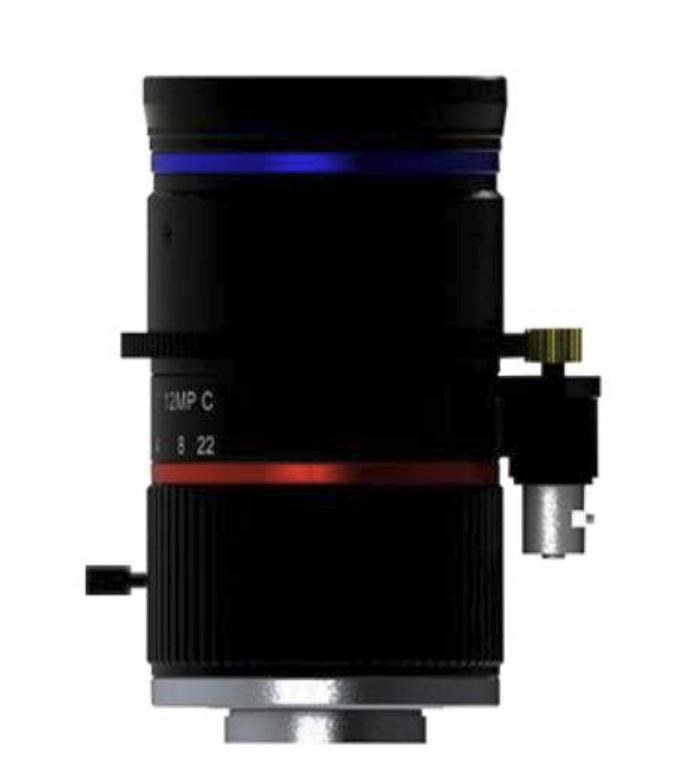 """FOCtek C-M25IR(12MP)-11F14-E  1.1"""" 25mm Motorized Focus with F1.4 Manual Iris C-Mount Lens, IR Corrected, 12 Megapixel Rated (4K)"""