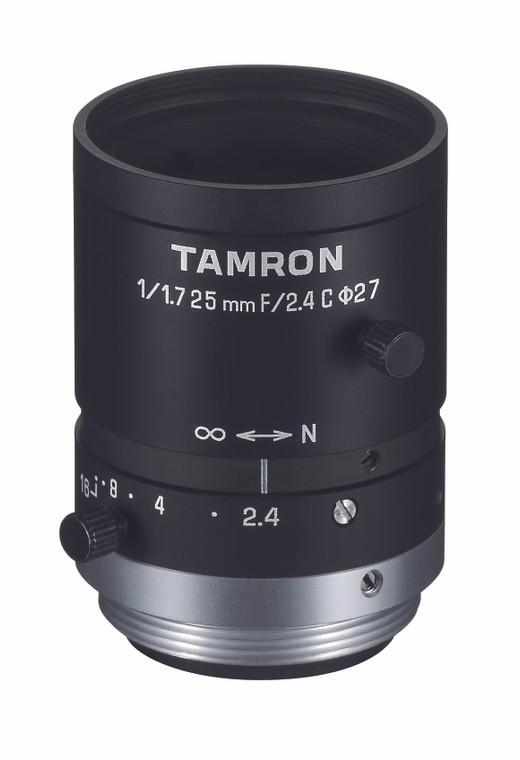 """Tamron M117FM25 1/1.7"""" 25mm F2.4 Manual Iris C-Mount Lens, 6 Megapixel Rated"""