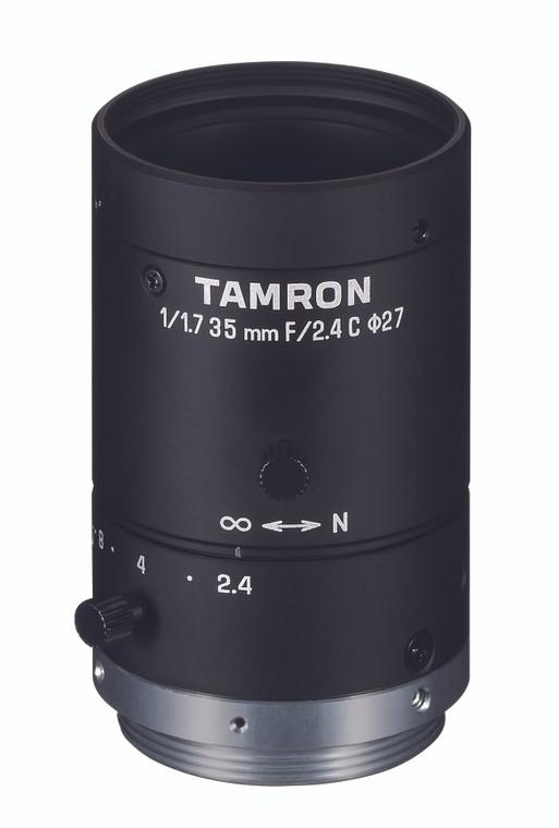 """Tamron M117FM35 1/1.7"""" 35mm F2.4 Manual Iris C-Mount Lens, 6 Megapixel Rated"""
