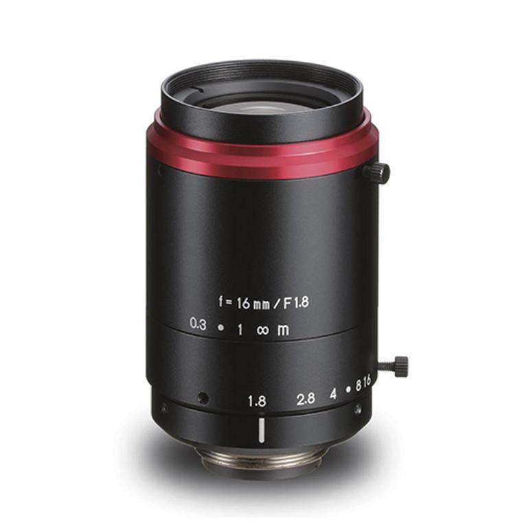 "Kowa LM16FC 1.1"" 16mm F1.8 Manual Iris C-Mount Lens, Low Distortion, Wide-Band Coating For NIR Sensitivity, 12 Megapixel Rated"