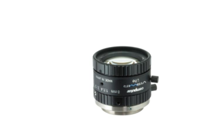 "Computar M0814-VSW 2/3"" 8mm F1.4 Manual Iris C-Mount Lens, Visiblet-Short Wave IR, Singleband Use, 6 Megapixel Rated"